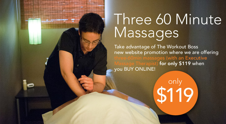 Three 60 Minute Massages with WORKOT BOSS