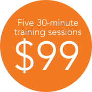 Five 30-minute sessions for $99
